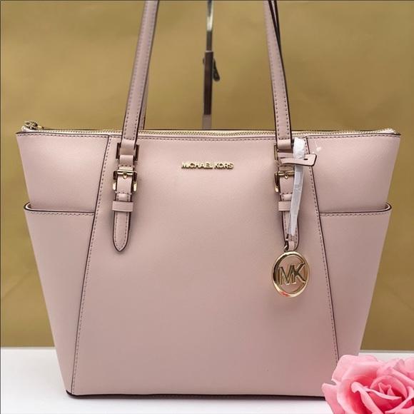 Michael Kors Charlotte Tote Shoulder Bag Pink